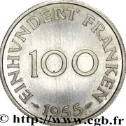 100 franken (Essai lignes moyennes) – revers