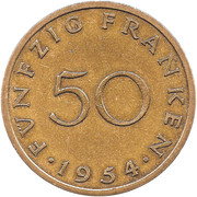 50 franken – revers