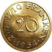 20 franken – revers