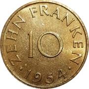 10 franken – revers