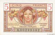 5 francs Trésor français (type 1947) – avers