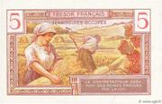 5 francs Trésor français (type 1947) – revers