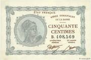 50 centimes Mines Domaniales de la Sarre (type 1920) – avers