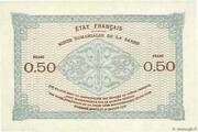 50 centimes Mines Domaniales de la Sarre (type 1920) – revers