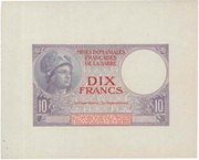10 francs Mines Domaniales de la Sarre (type 1920) – avers