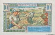 10 francs Trésor français (type 1947) – revers