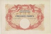 50 francs Mines Domaniales de la Sarre (type 1920) – avers