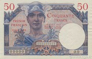50 francs Trésor français (type 1947) – avers