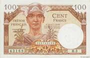 100 francs Trésor français (type 1947) – avers