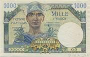 1000 francs Trésor français (type 1947) – avers