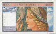 1000 francs Trésor public (type 1955) – revers
