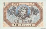 1 mark Sarre (type 1947) – avers