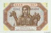1 mark Sarre (type 1947) – revers