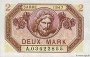 2 mark Sarre (type 1947) – avers