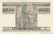 10 mark Sarre (type 1947) – avers