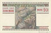 10 mark Sarre (type 1947) – revers