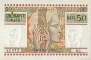 50 mark Sarre (type 1947) – avers