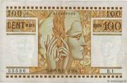 100 mark Sarre (type 1947) – avers