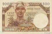 100 francs Trésor public (type 1955) – avers