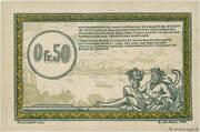 50 centimes - Régie des Chemin de Fer en Territoires Occupés – revers