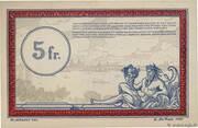 5 francs - Régie des Chemin de Fer en Territoires Occupés – revers