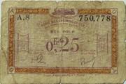 25 centimes - Régie des Chemin de Fer en Territoires Occupés – avers