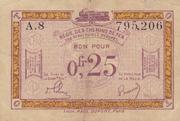 25 centimes - Régie des Chemin de Fer en Territoires Occupés -  avers
