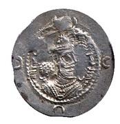 Drachm - Khusru I - 531-579 AD (type II/1) -  avers