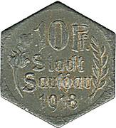 10 pfennig - Saulgau – avers
