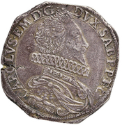 Scudo - Carlo Emanuele I (Type 2) – avers