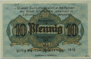 10 Pfennig (Orlamünde) – revers