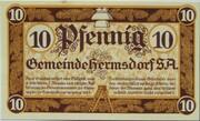 10 Pfennig (Hermsdorf in Thüringen) – avers