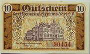 10 Pfennig (Hermsdorf in Thüringen) – revers