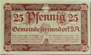 25 Pfennig (Hermsdorf in Thüringen) – avers