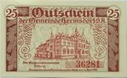 25 Pfennig (Hermsdorf in Thüringen) – revers