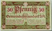 50 Pfennig (Hermsdorf in Thüringen) – avers