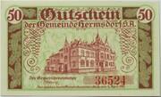 50 Pfennig (Hermsdorf in Thüringen) – revers
