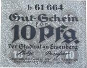 10 Pfennig (EISENBERG ) – avers