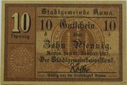 10 Pfennig (Auma) – avers