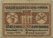 10 Pfennig (Neustadt an der Orla) – avers