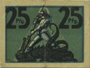 25 Pfennig (Eisenach) – revers