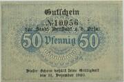 50 Pfennig (Neustadt an der Orla) – revers
