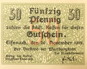 50 Pfennig (Gutschein) – avers
