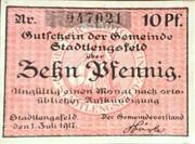10 Pfennig (Stadtlengsfeld) – avers