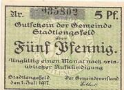 5 Pfennig (Stadtlengsfeld) – avers
