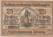 25 Pfennig (Stadtlengsfeld) – avers