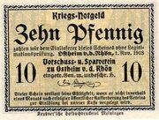 10 Pfennig (Ostheim vor der Rhön; Vorschuß- und Sparverein) – avers