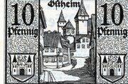 10 Pfennig (Ostheim vor der Rhön; Vorschuß- und Sparverein) – revers
