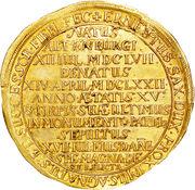 10 Ducat - Friedrich Wilhelm III (mort de Friedrich Wilhelm III) – revers