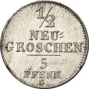 ½ Neugroschen / 5 Pfennige - Joseph – revers